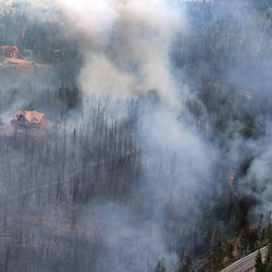 The Brian Head Fire, pictured Friday June 23, 2017 continues to grow and has burned more than 27,700 acres. At least 13 homes and eight out buildings have been destroyed by the fire.