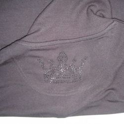 Logo on the back of this Crown sweatshirt