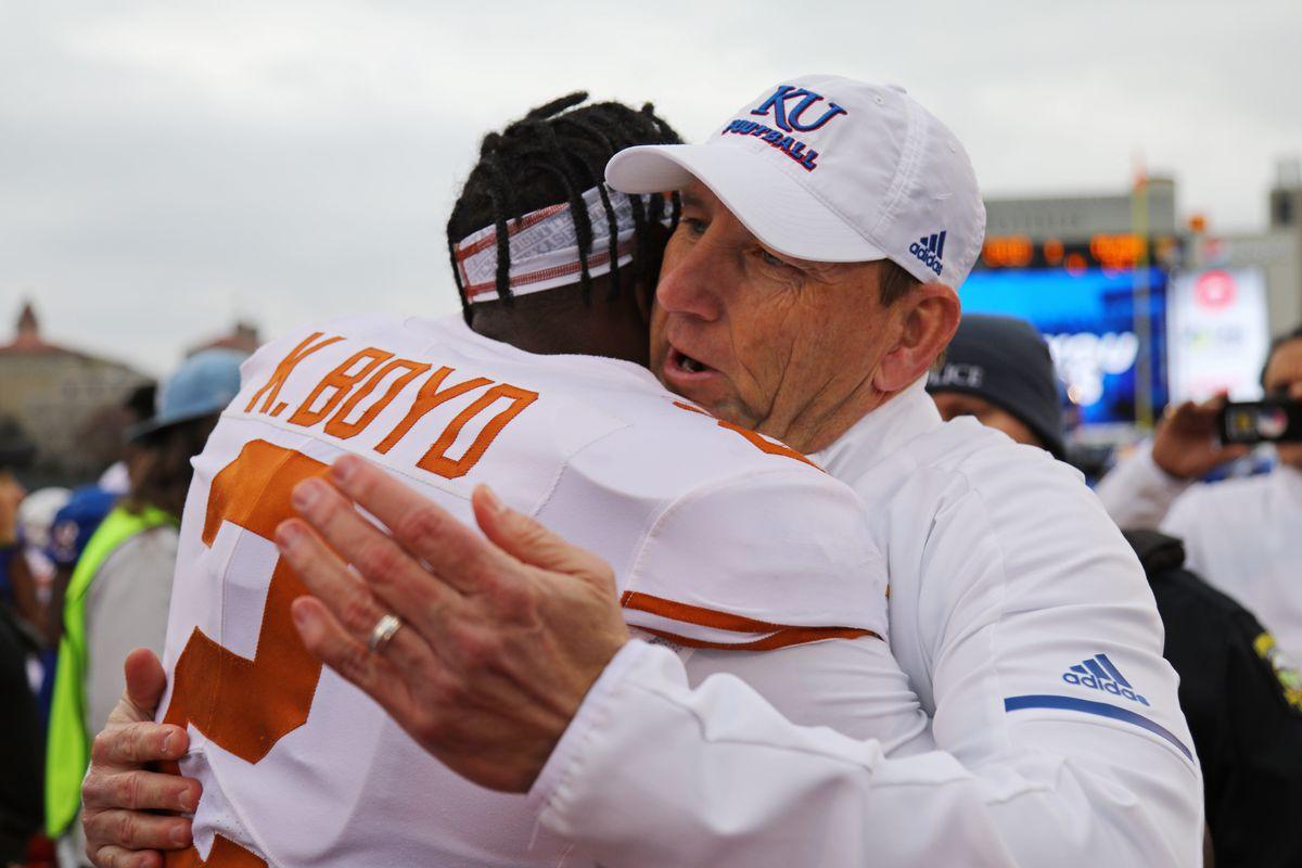 NCAA Football: Texas at Kansas
