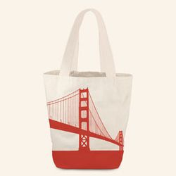 "<strong>Rickshaw Bagworks</strong> Golden Gate Bridge Grocery Tote, <a href=""http://www.rickshawbags.com/grocery-tote-ggbridge.html"">$25</a>"