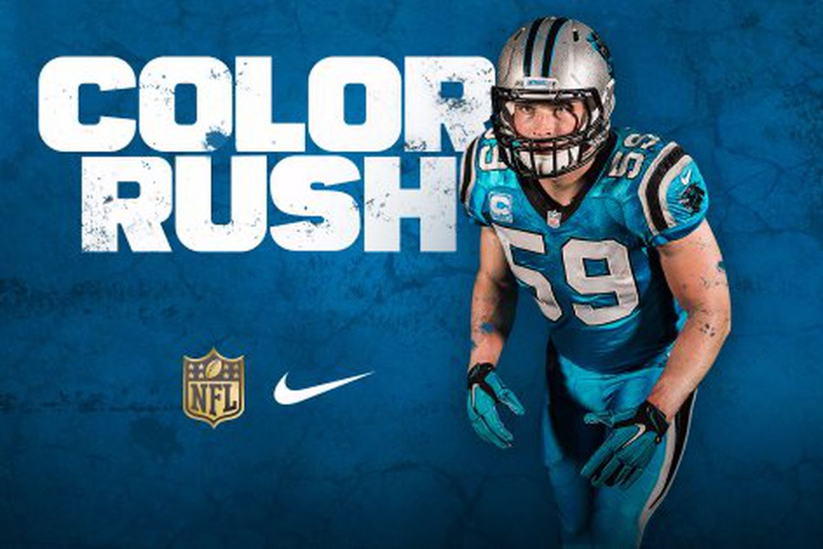 Panthers unveil \'color rush\' uniforms for Thanksgiving - Cat Scratch ...