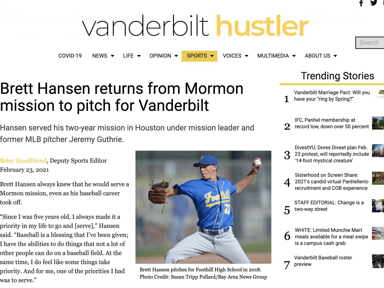 An elite pitching prospect is back from a Latter-day Saint mission