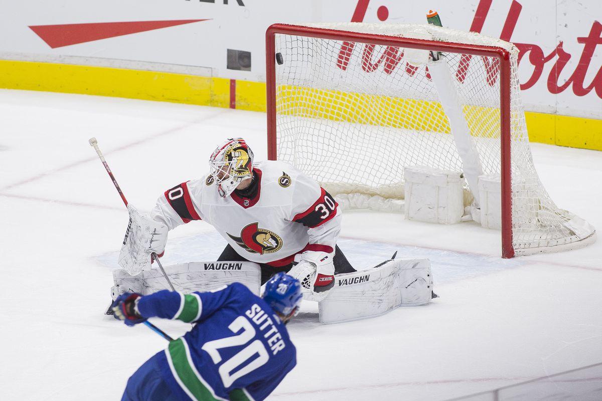 NHL: Ottawa Senators at Vancouver Canucks