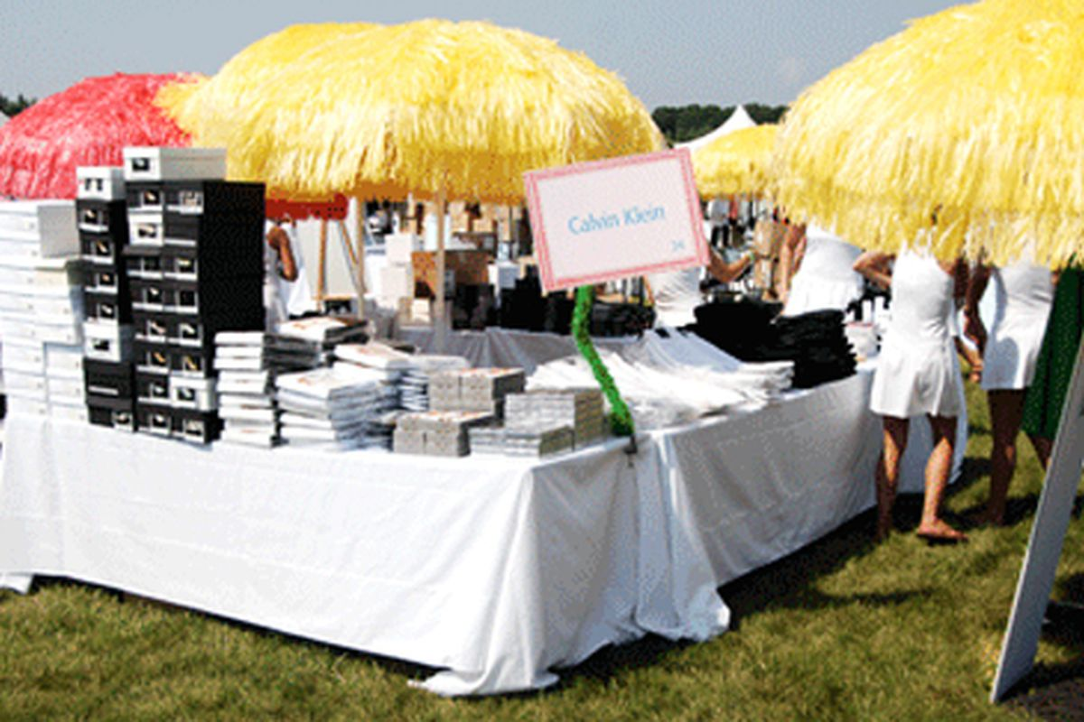 """The Calvin Klein table at last year's Super Saturday. Image via the <a href=""""http://www.ocrf.org/index.php?option=com_content&amp;view=category&amp;layout=blog&amp;id=85&amp;Itemid=243&amp;galleryNo=1&amp;ida=35"""">official website</a>"""
