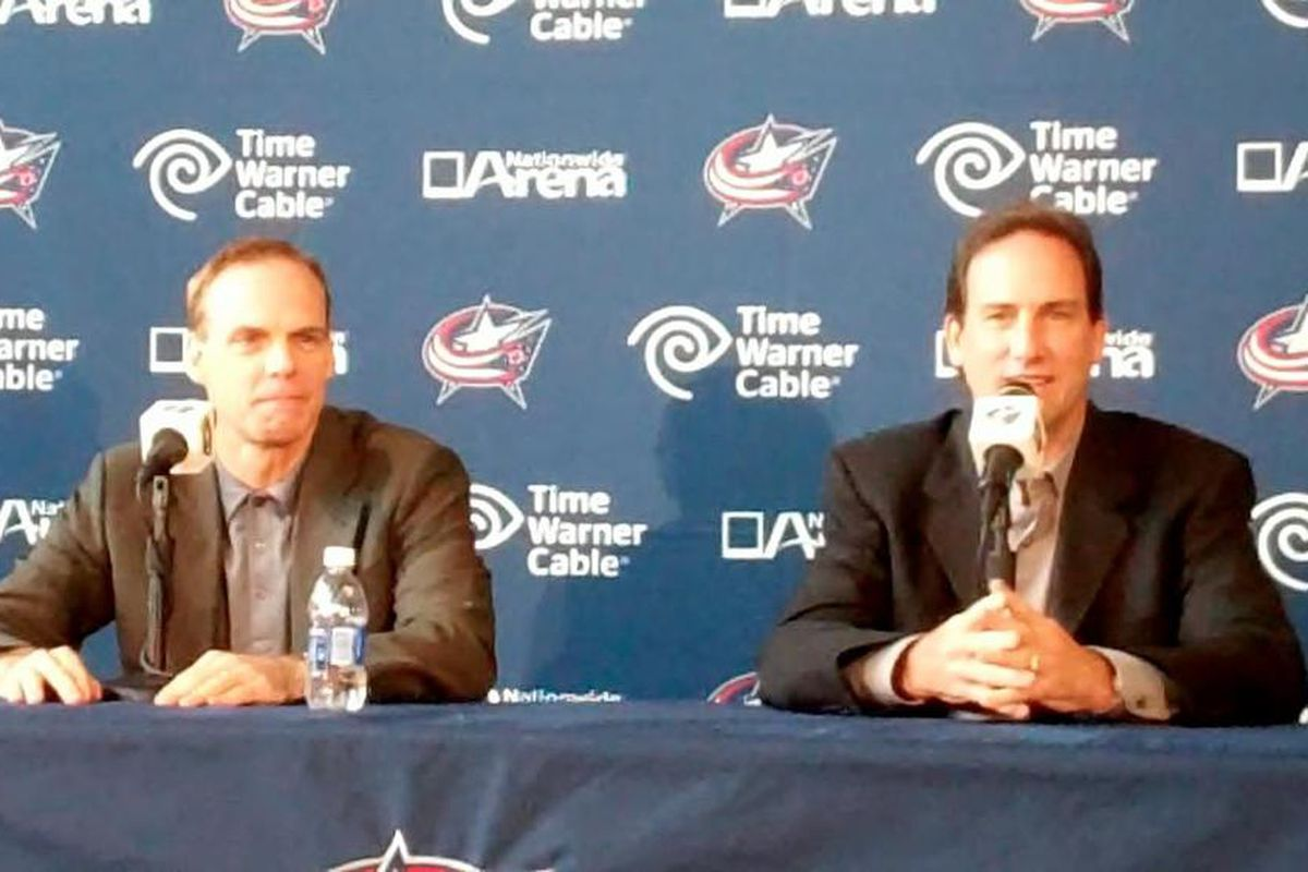 GM Scott Howson and Head Coach Scott Arniel met with members of the local media on September 12th to discuss the upcoming training camp and season. - Matt Wagner, The Cannon