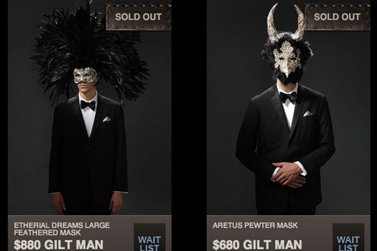 The Weekend That Gilt Sold An $880 Halloween Mask - Racked NY