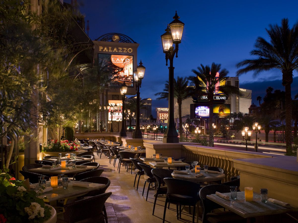 The patio on the Strip at Lavo