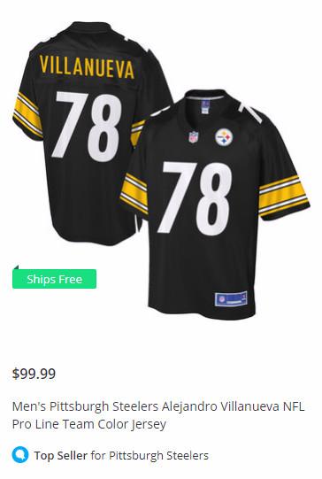 new style b7995 f1432 Alejandro Villanueva has the Steelers' No. 1-selling jersey ...