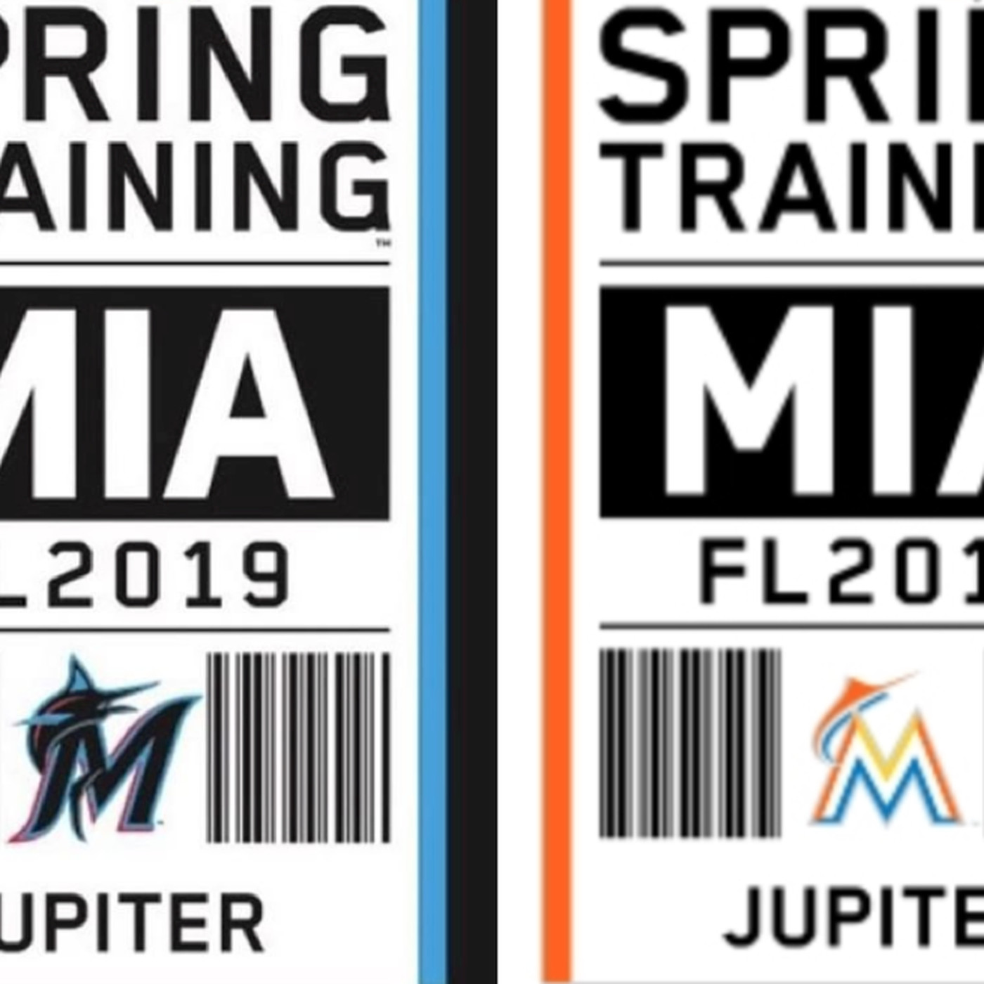 At least 4 Miami Marlins logo designs being considered for 2019 rebrand -  Fish Stripes 6763f6040