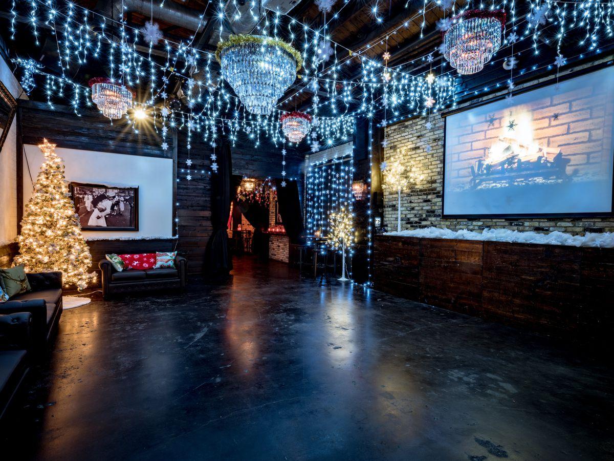 "The ""winter wonderland"" dance room"