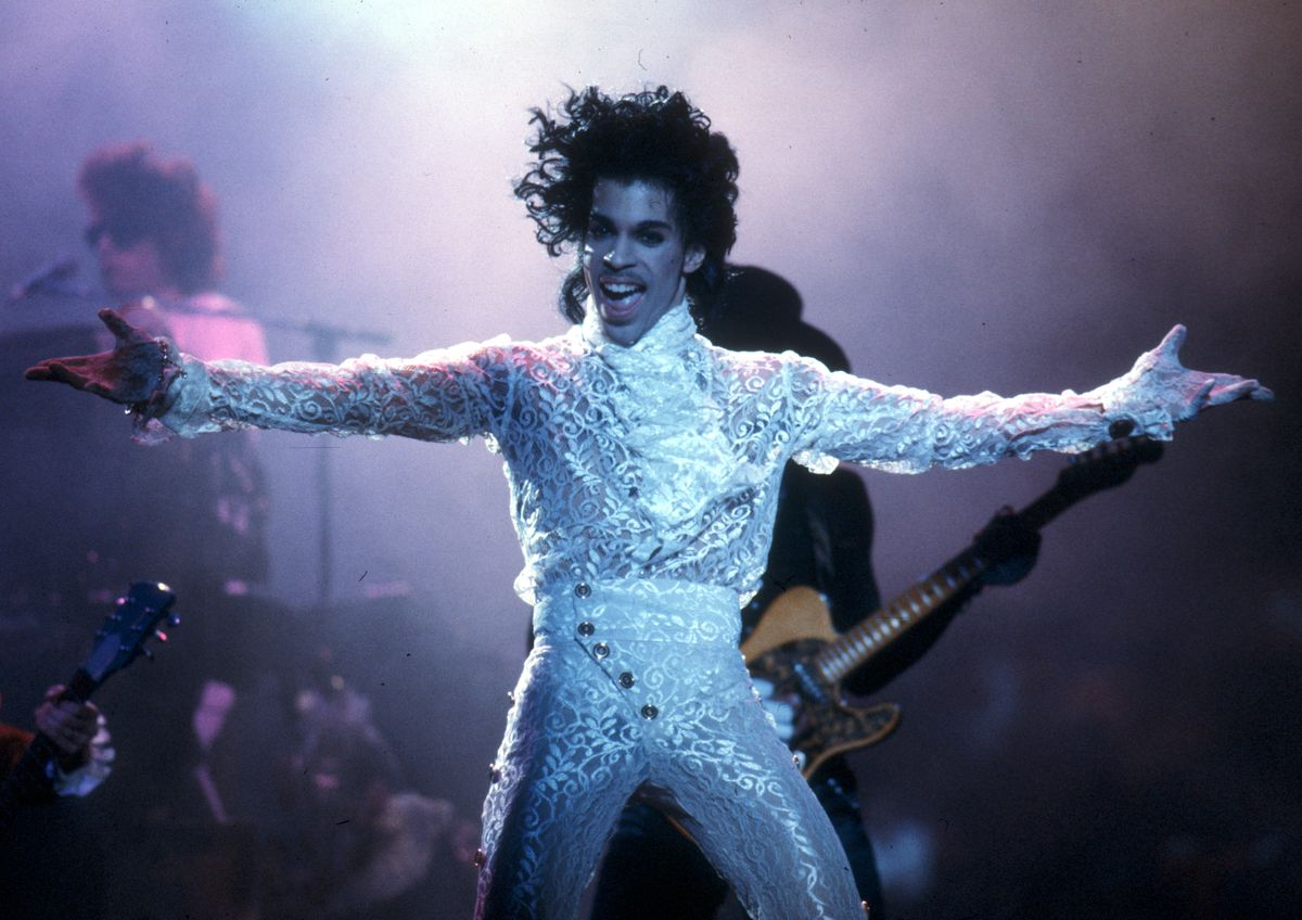 Prince on stage.