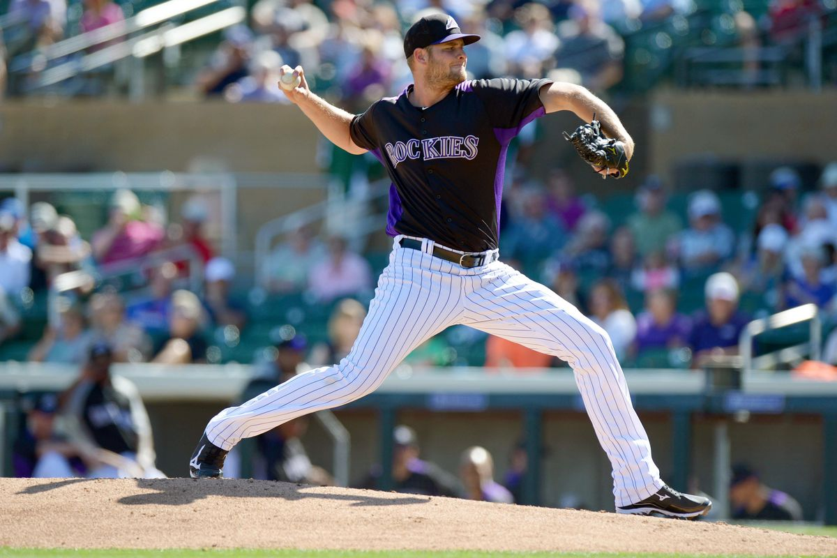 Chris Volstad threw two innings of scoreless relief in the Rockies' 3-1 loss to the Chicago White Sox.