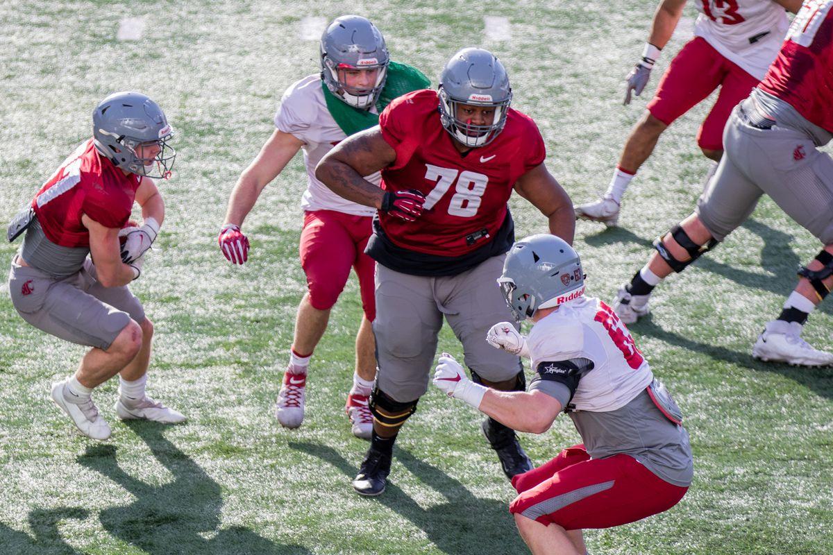 Washington State University Football Spring Practice 4 - Syr Riley