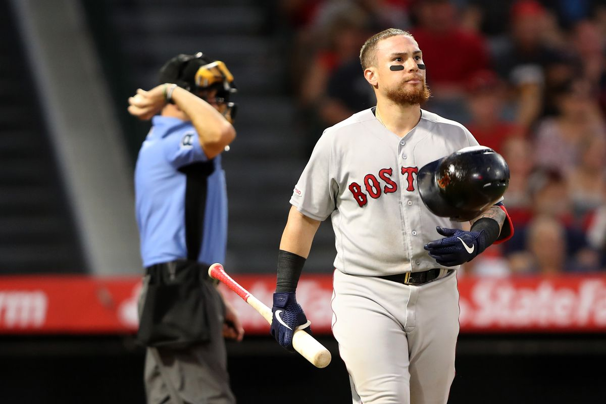 Ryan Brasier blows the lead in the eighth as the Red Sox fall to the Angels