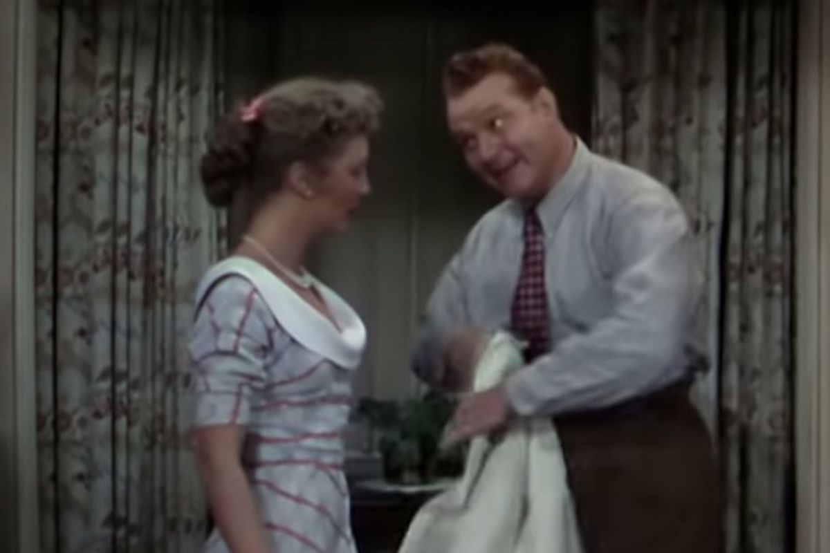 """""""Baby, It's Cold Outside,"""" which is featured in this scene from """"Neptune's Daughter,"""" may be on the outside looking in during this holiday season."""
