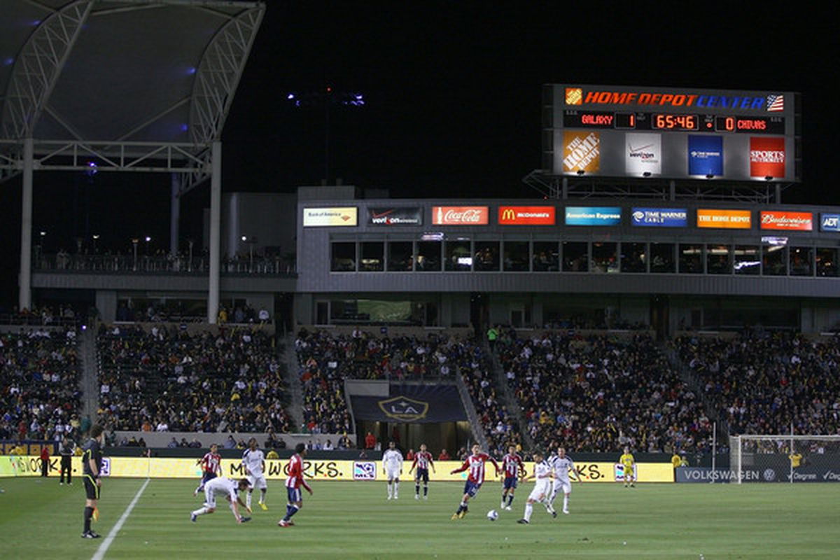 Note the scoreboard. The scoreline will make any stadium look perfect (Photo by Victor Decolongon/Getty Images)