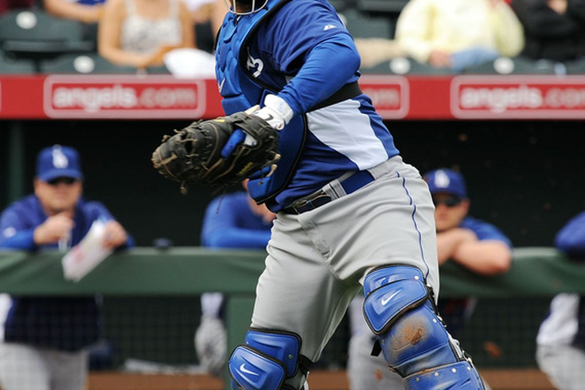 Dodgers' backup catcher Dioner Navarro has a strained oblique muscle, and will likely start the season on the disabled list, joining Casey Blake, Jon Garland, and Vicente Padilla.