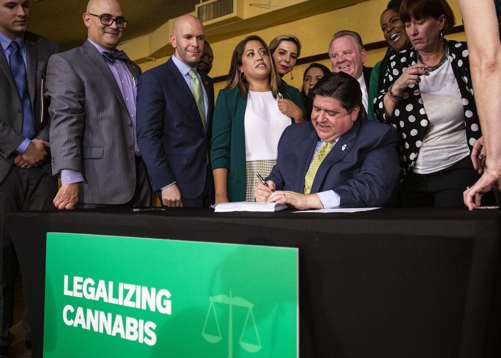 Gov. J.B. Pritzker signs legislation to make Illinois the nation's 11th state to legalize recreational marijuana in 2019.