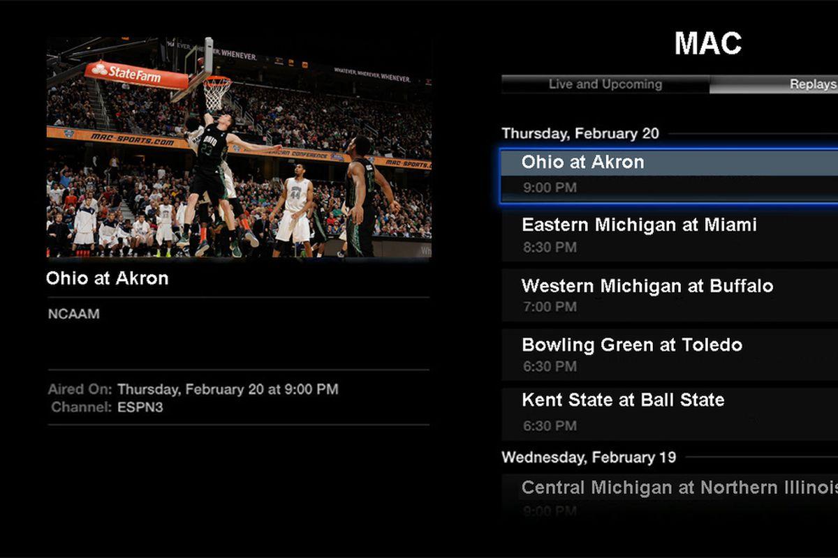 A mock up of what the ESPN MAC Digital Network looks like.