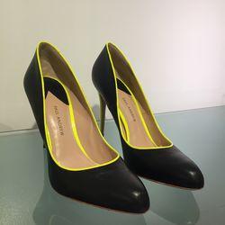 Black and neon heels, $80
