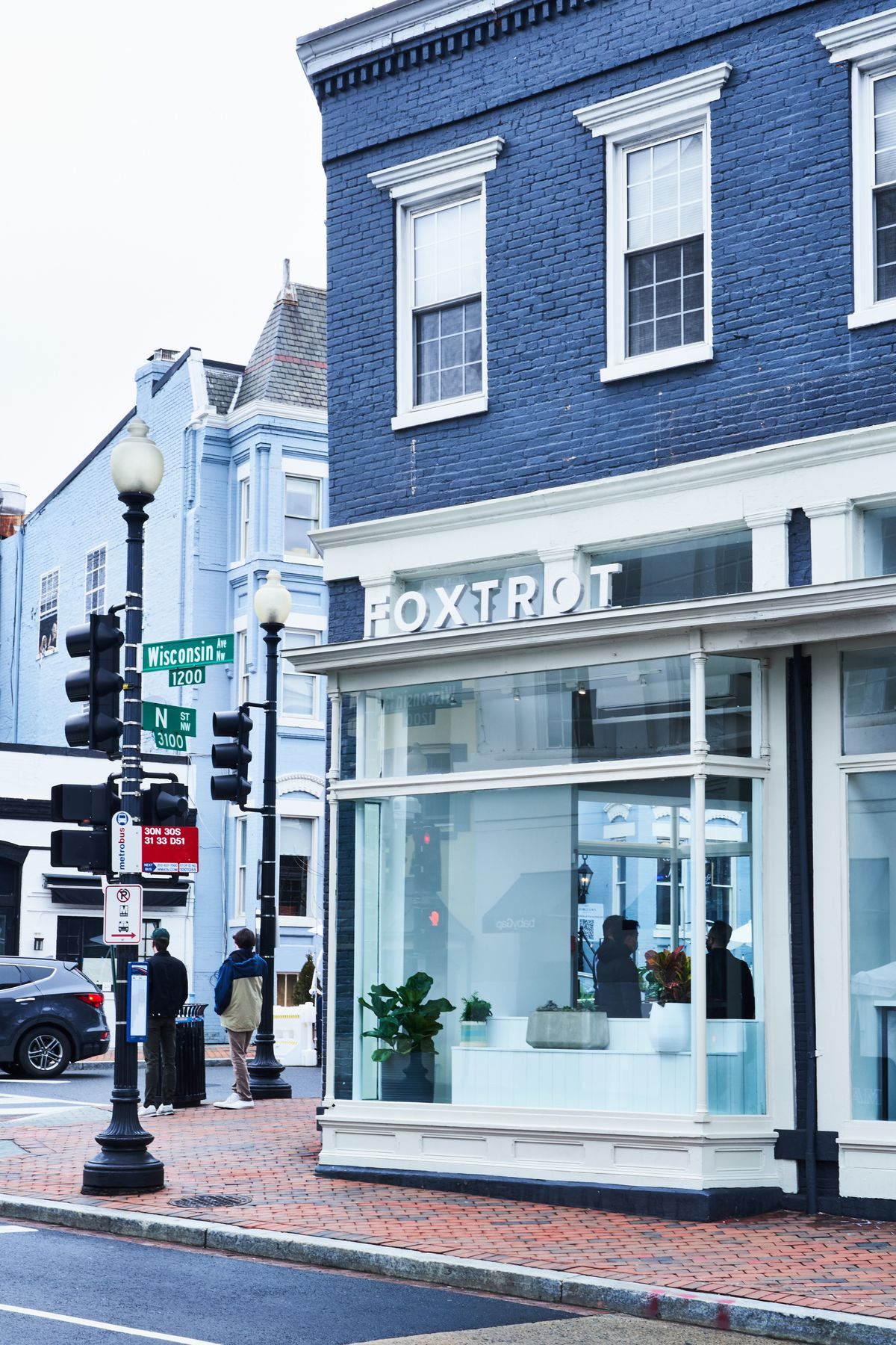 Foxtrot has a high-traffic location at the corner of Wisconsin Avenue and N Street NW