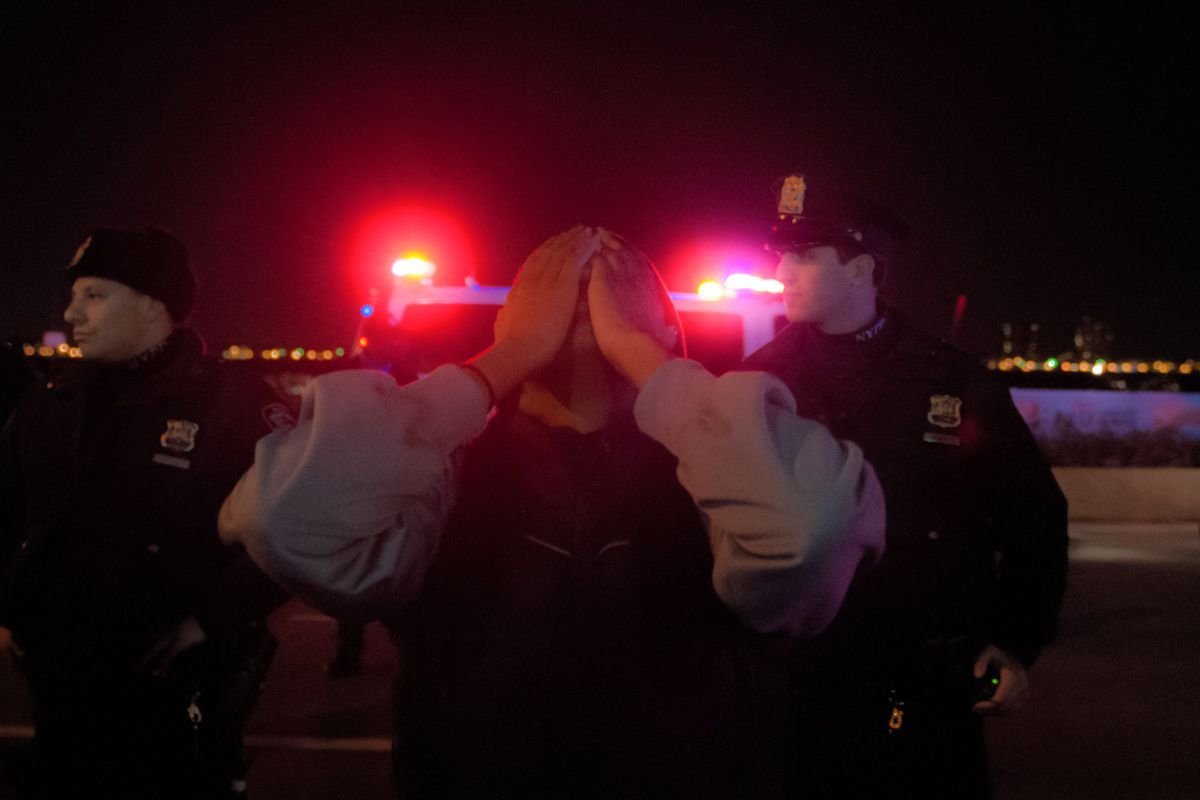 Protesters shut down the Henry Hudson Parkway after a grand jury failed to indict NYPD Officer Daniel Pantaleo for the death of Eric Garner, Dec. 3, 2014.