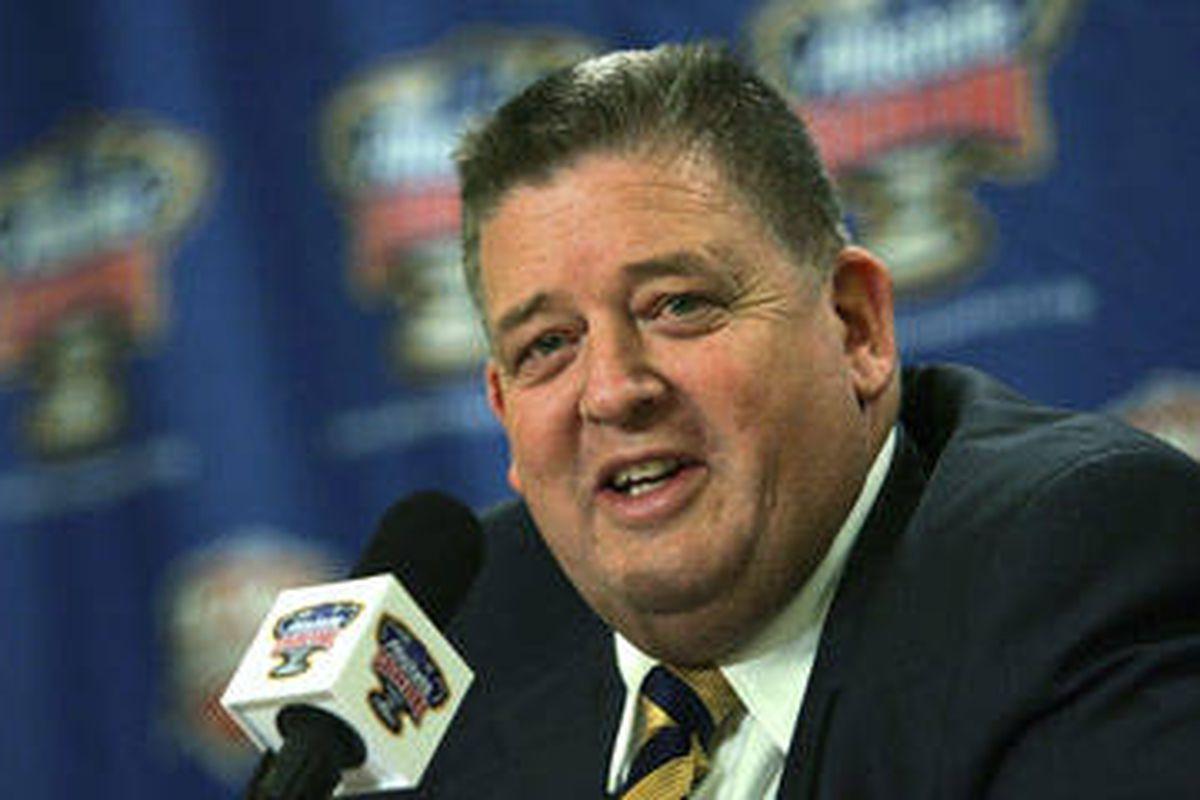 Charlie Weiss, new head football coach at Kansas