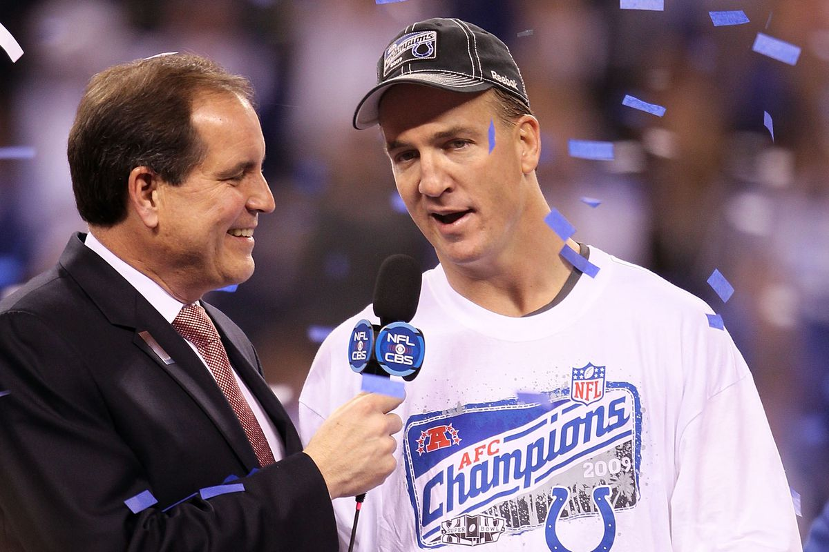 peyton manning and jim nantz who defends ignoring the hgh