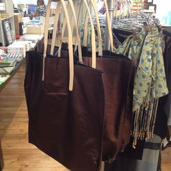 Jack Gomme leather tote bags from Paris are $99