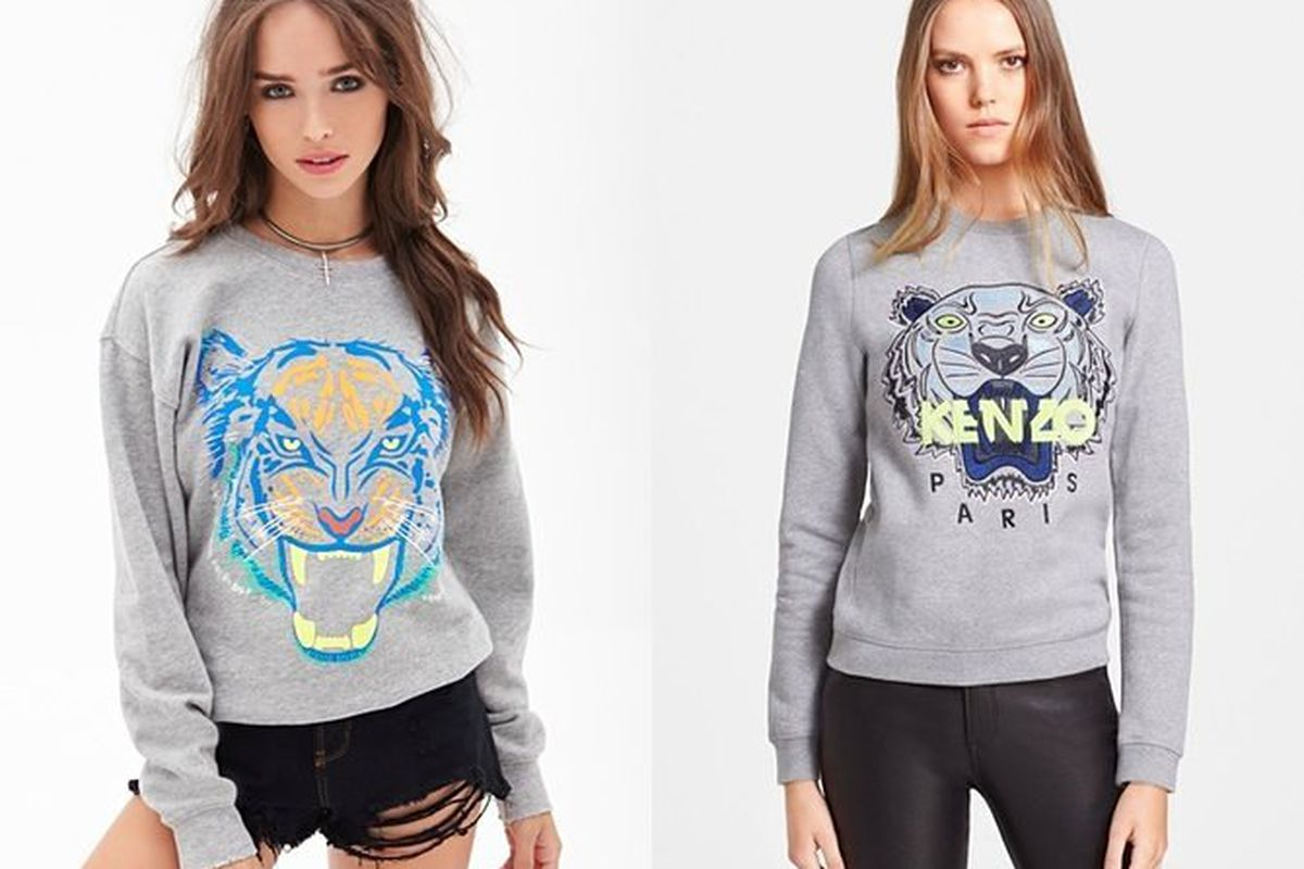 """Is this for real? Via <a href=""""http://www.forever21.com/Product/Product.aspx?BR=f21&amp;Category=sweater_sweatshirts-hoodies&amp;ProductID=2000138116&amp;VariantID=&lt;br&gt;"""">Forever21</a> and <a href=""""http://shop.nordstrom.com/s/kenzo-tiger-embroi"""