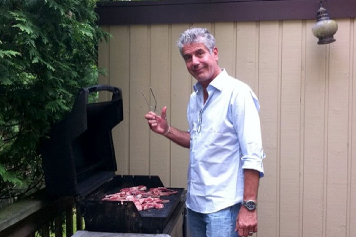 Bourdain's 24-hour layover at home