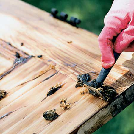 Chemical strippers make quick work of prepping wood surfaces for refinishing