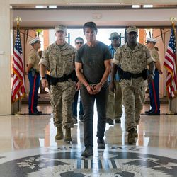"""Jeremy Renner plays William Brandt, Tom Cruise plays Ethan Hunt and Ving Rhames plays Luther Stickell in  """"Mission: Impossible – Rogue Nation."""""""