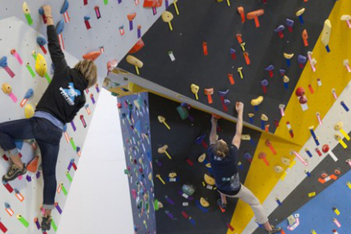"""You could spend Valentine's Day climbing a mountain of love. Image via <a href=""""http://www.touchstoneclimbing.com"""">Touchstone Climbing</a>."""