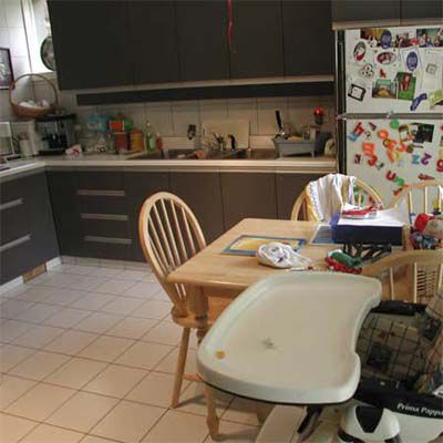 Before House Staging: Messy Kitchen