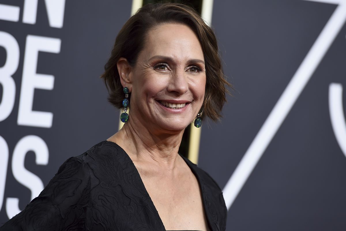 Actress Laurie Metcalf arrives at the 75th annual Golden Globe Awards in Beverly Hills, California, in 2018.