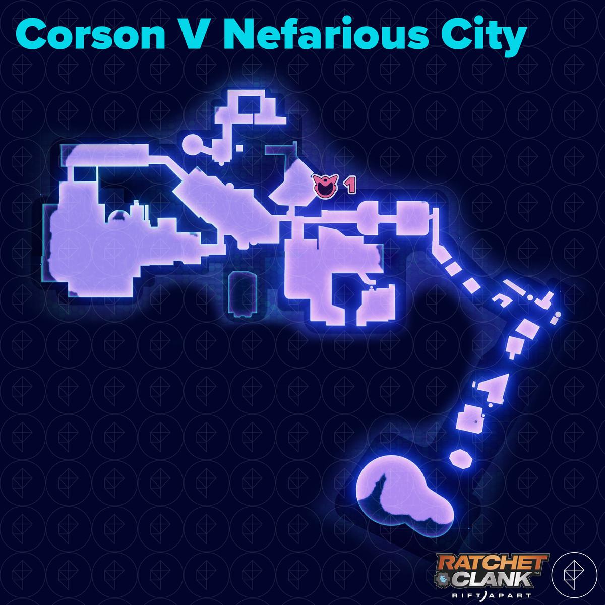 Ratchet & Clank: Rift Apart collectibles guide: Corson V Nefarious City