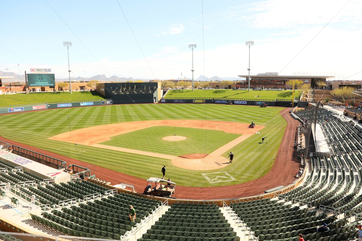 MLB: FEB 27 Spring Training - Angels at Rockies