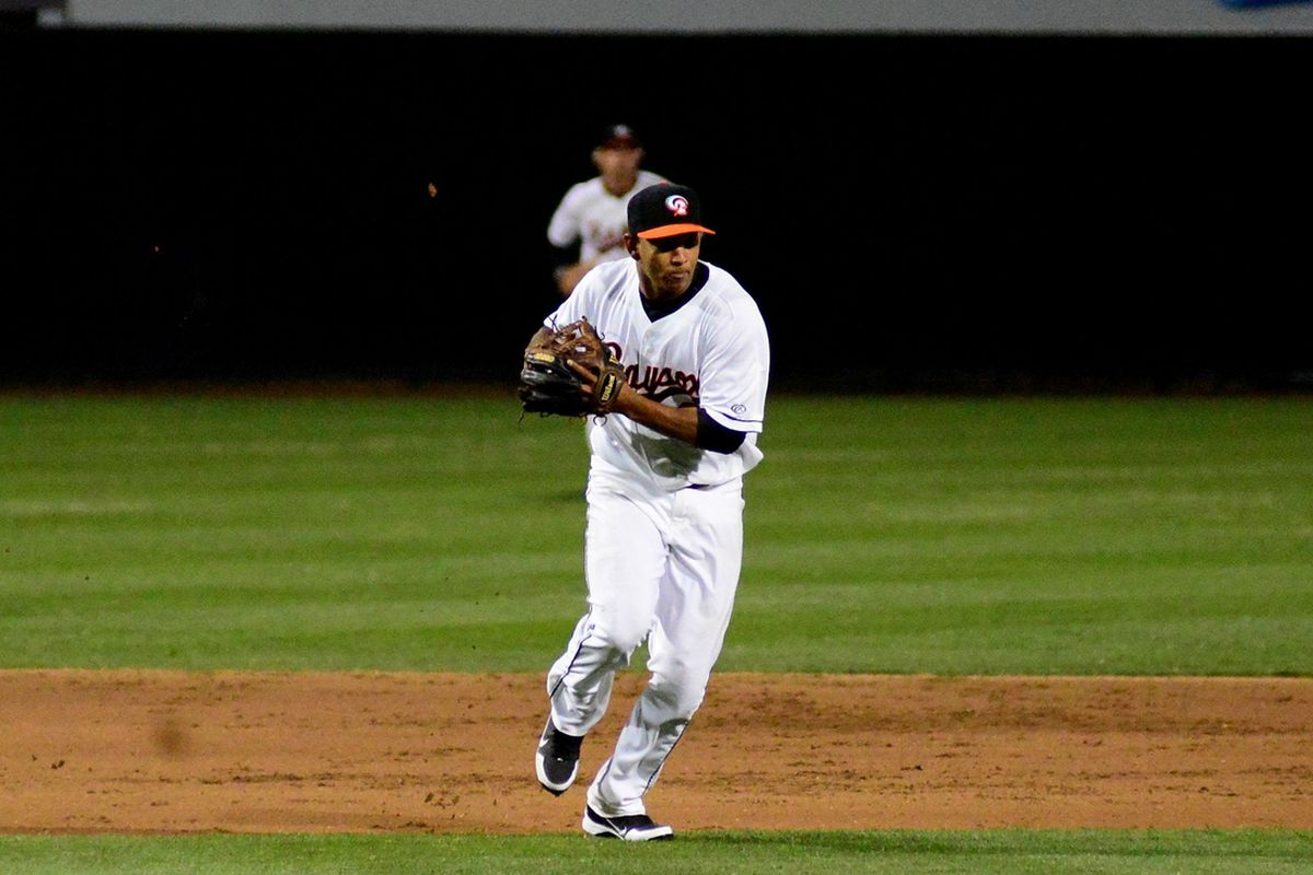 ELCS MVP Garabez Rosa in action with the Baysox back in '13