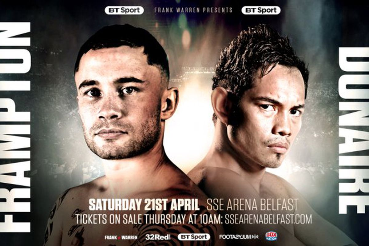 The April St Showdown Between Former Champions Carl Frampton And Nonito Donaire Has Received Some Added Stakes In The Form Of The Interim Wbo