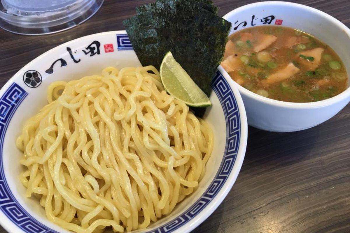Tsukemen ramen from Tsujita in Los Angeles