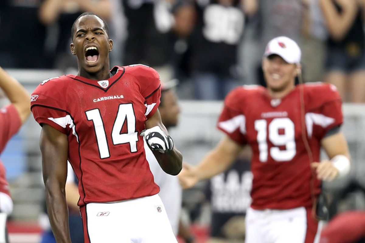 GLENDALE AZ - SEPTEMBER 26:  Wide receiver Stephen Williams #14 of the Arizona Cardinals will be an integral part of this week's game plan with both Doucet and Breaston out. (Photo by Christian Petersen/Getty Images)