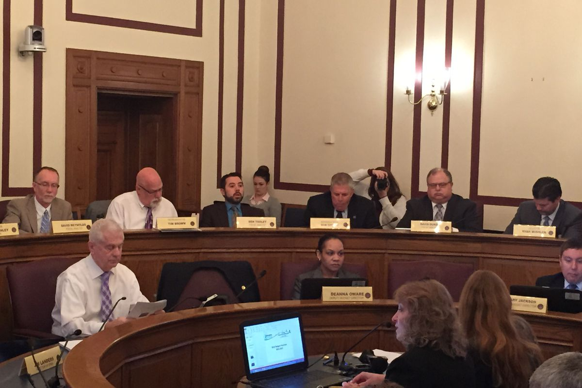 State Superintendent Glenda Ritz presents budget requests to the State Budget Committee on Thursday.