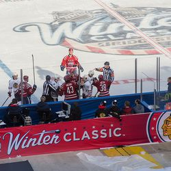 Mike Green Arrives at Winter Classic Scrum
