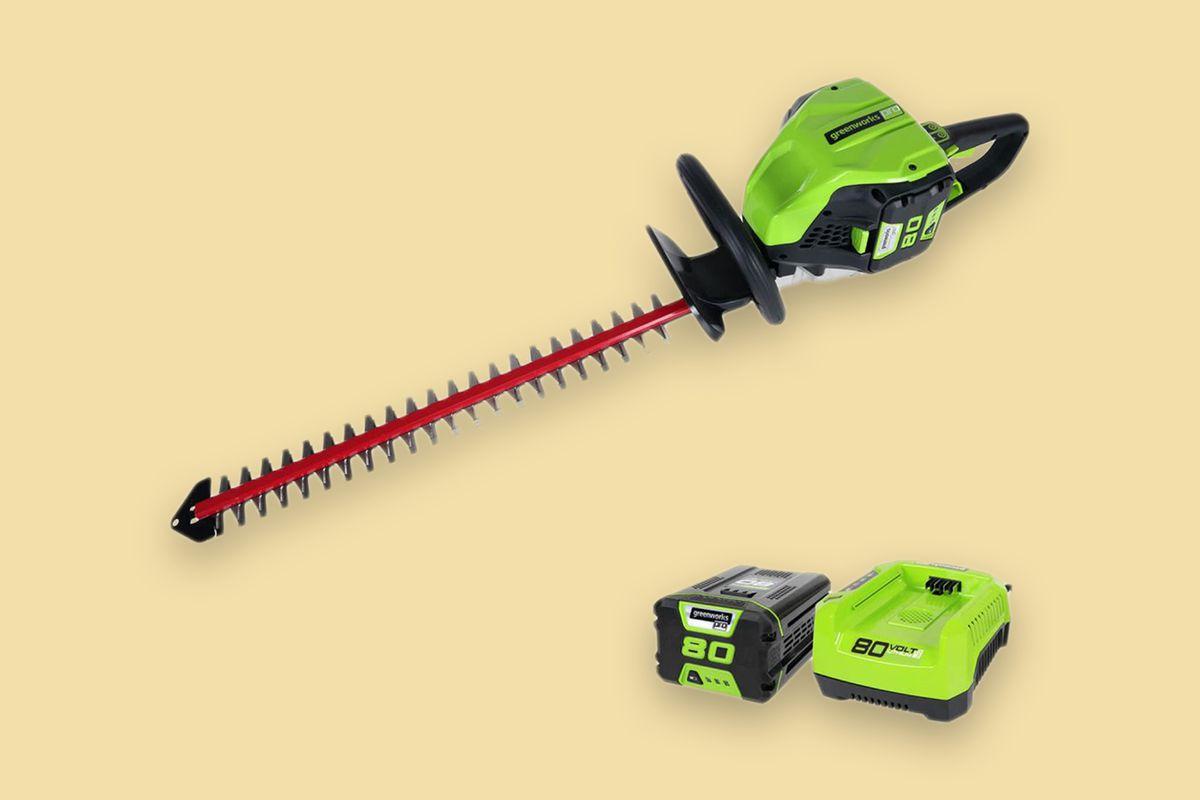 Greenworks Cordless Brushless Hedge Trimmer