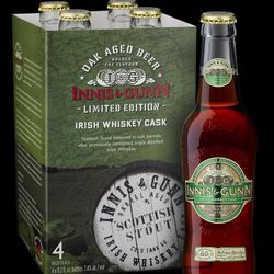 In this undated image released by Innis & Gunn, Irish Whiskey Cask Stout is seen.