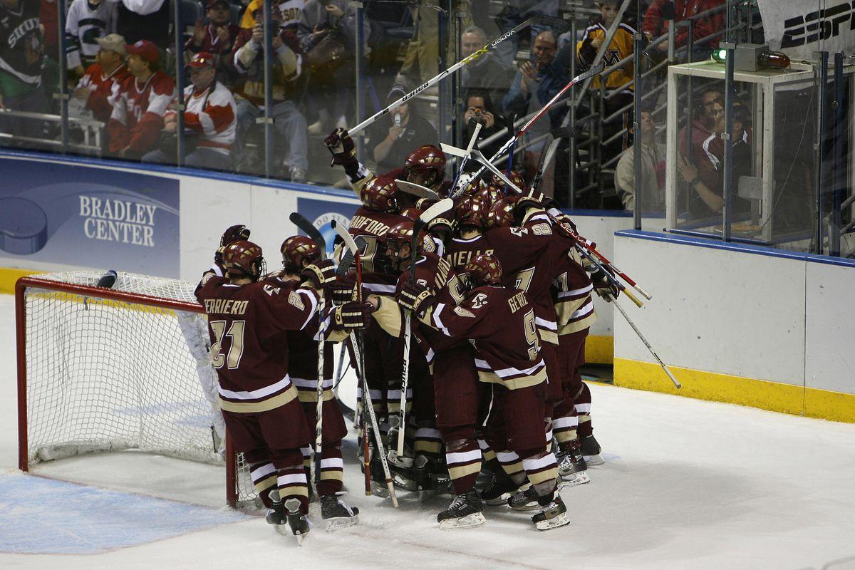 NCAA Mens Hockey - Frozen Four - Semifinals - North Dakota vs Boston College