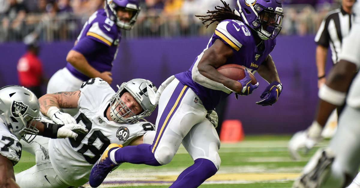 Vikings Run Over Raiders: Game Notes