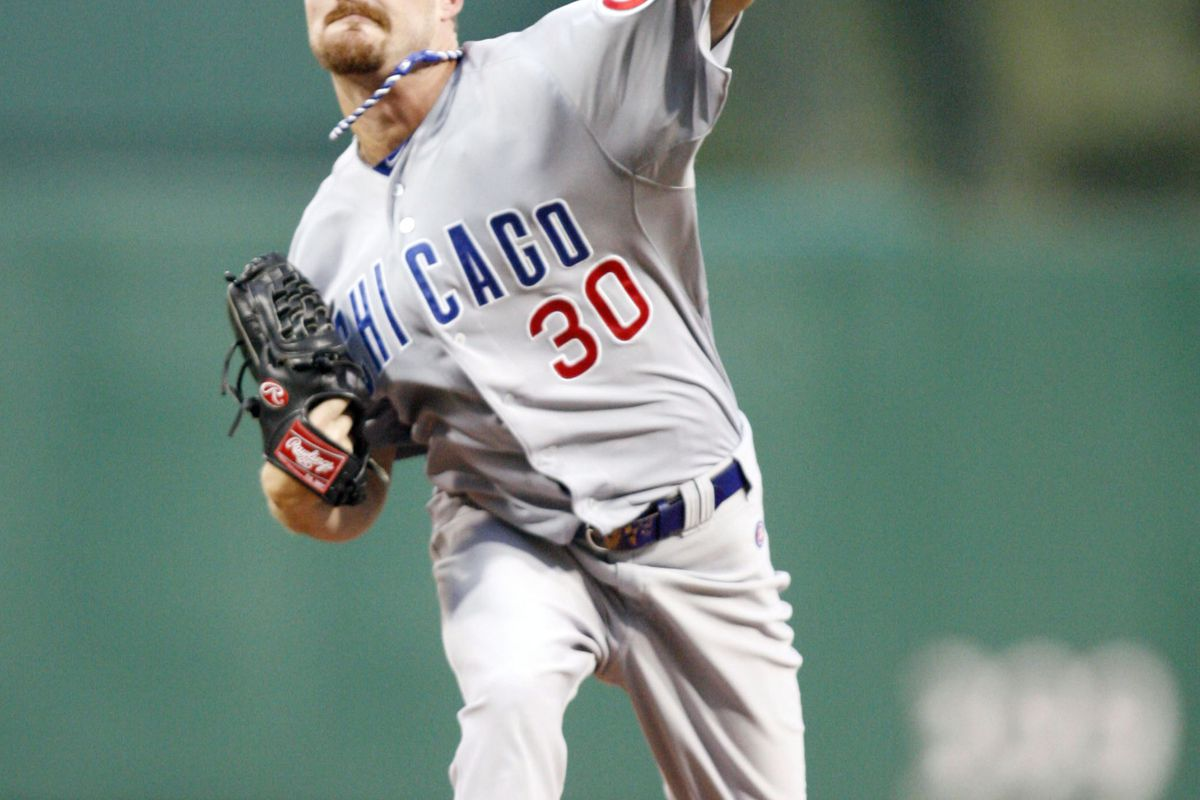 Pittsburgh, PA, USA; Chicago Cubs starting pitcher Travis Wood pitches against the Pittsburgh Pirates at PNC Park. Credit: Charles LeClaire-US PRESSWIRE