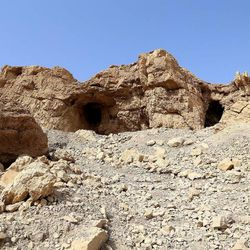 In 1947 a Bedouin shepherd made the archeological discovery of the century when he stumbled upon seven ancient scrolls in this cave.  photographed Nov. 5, 2013. Dead Sea Scrolls: Life and Faith in Ancient Times exhibit will be on display November through April 2014 at The Leonardo in Salt Lake City.